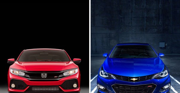 2017 Chevrolet Cruze vs. 2017 Honda Civic.