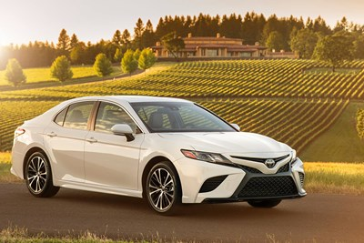 a white 2018 toyota camry outside at a vineyard