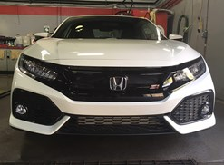 a new white honda civic