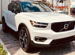 a white 2019 volvo xc40 in a driveway
