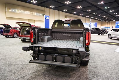 the open tailgate of a 2019 gmc sierra 1500