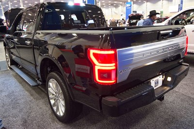 a black 2018 ford f150 which is the best selling vehicle of 2018