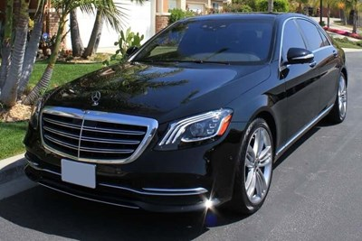 a black 2019 mercedes benz s class sedan