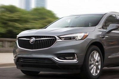 The 2020 Buick Envision driving