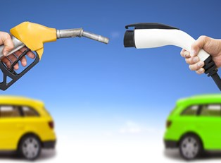 an image showing the shift toward new fuel-efficient cars