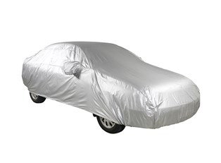 A custom car cover on a car