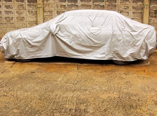 A durable car cover on top of a car