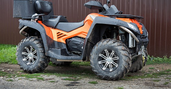 Orange and black 4-wheeler